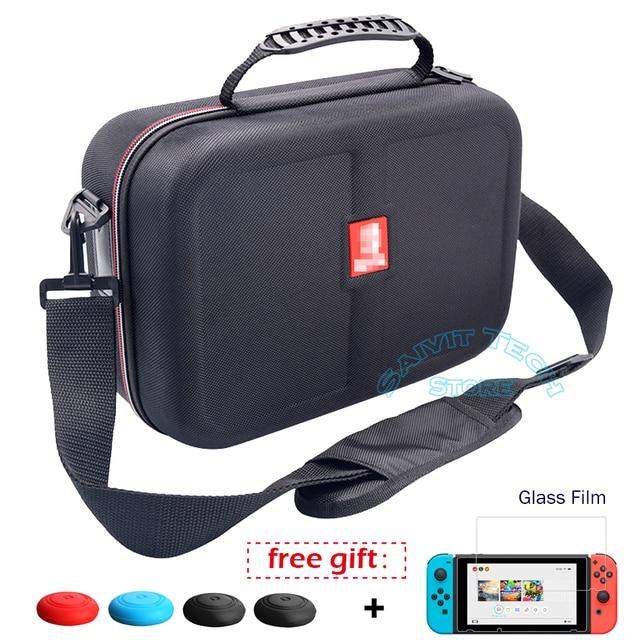 Nintendoswitch ใหญ่เก็บกระเป๋า Nintend สวิทช์อุปกรณ์เสริม Travel และฝาครอบฟิล์มสำหรับเกม Nintendo Switch