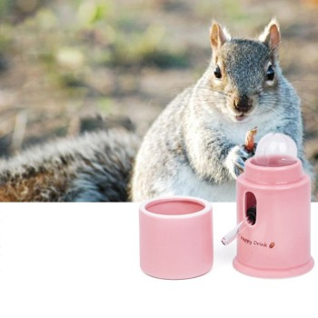 Hamster Water Dispenser Automatic Ceramics Drinking Bottle Device Small Animals Parrots Birds Leak-Proof Quiet Hydrate Feeder 2