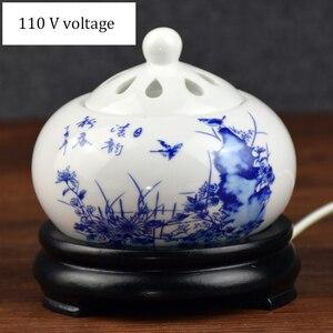 110 v cronometragem termostato eletrônico óleo aroma queimador sândalo fornalha cerâmica scented fornos queimador de mesa incenso a