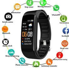 Bracelet connecté C5S, Bluetooth, moniteur de fréquence cardiaque, de sommeil, dactivité physique, tactile, étanche