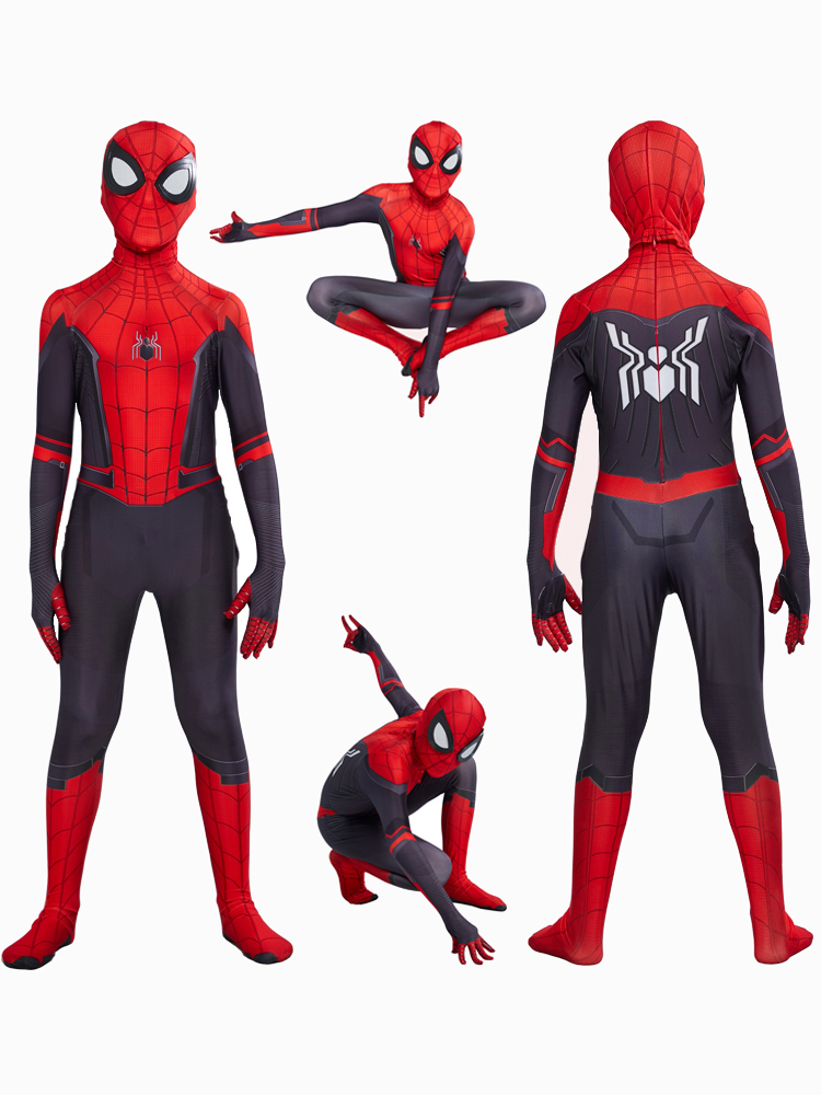 Cosplay Costume Suit Zentai Peter Parker Spider-Boy Kids Home for Far