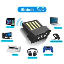 Adaptery USB Bluetooth BT 5 0 USB bezprzewodowy komputer Adapter odbiornik Audio nadajnik Dongles Laptop słuchawka BLE Mini nadawca tanie tanio ANKNDO NONE CN (pochodzenie) BLE 5 0 Bluetooth v5 0 ble 5 0 low power adapter for PC Computer laptop for bluetooth headphone
