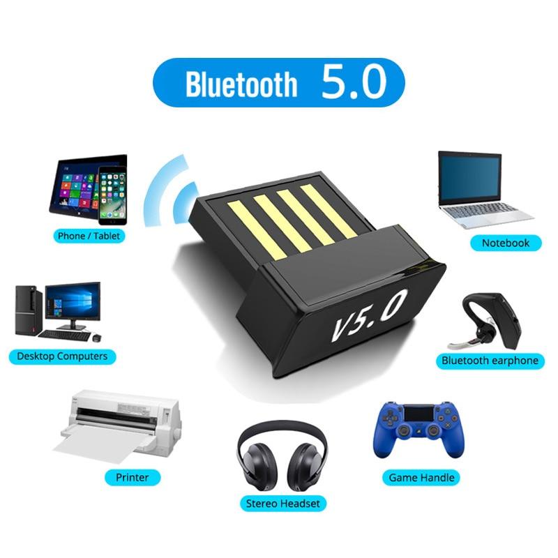 Usb adaptadores bluetooth bt 5.0 usb sem fio adaptador de computador receptor áudio transmissor dongles portátil fone de ouvido ble mini remetente