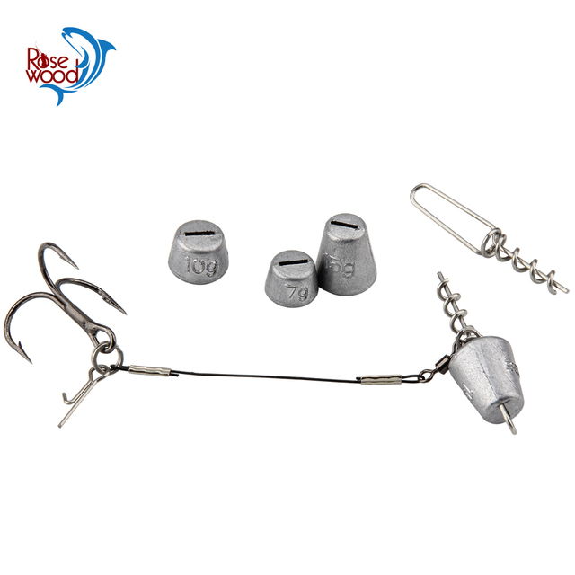 Multi depth screw and weight refill pack 7g/10g/15g Weight fishing Screw System & Accessories jig head lead worm shad soft bait