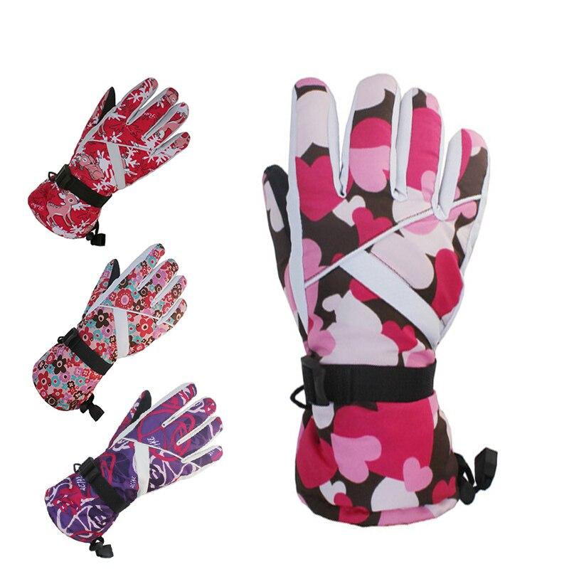 Winter Warm Snowboarding Ski Gloves Men Women Snow Mittens Waterproof Skiing Breathable Fleece Motorcycle Snowmobile Gloves