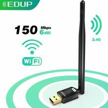 Wi-Fi-адаптер EDUP компактный USB 150 Мбит/с антенной 6 дБи