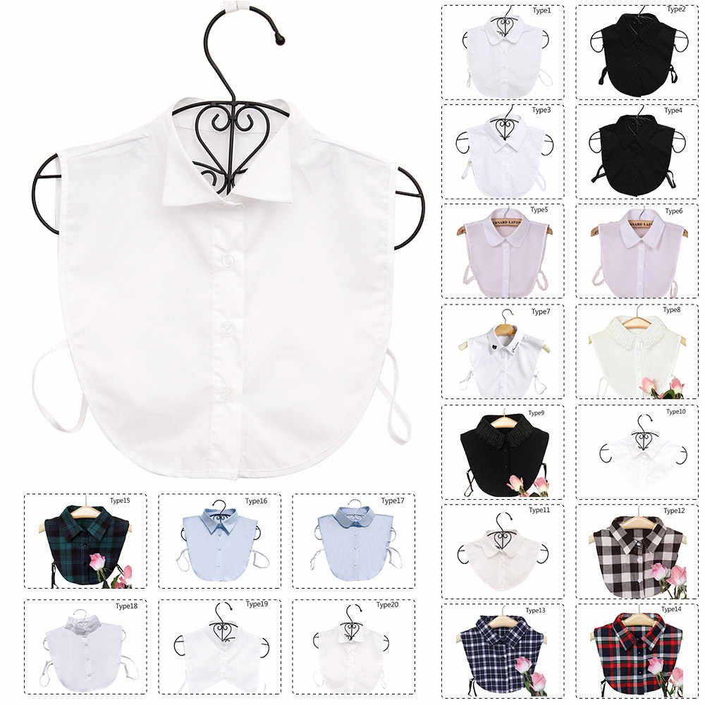 Women Ladies Lapel Detachable Shirt Collar Necklace Choker Fake False Collar Z