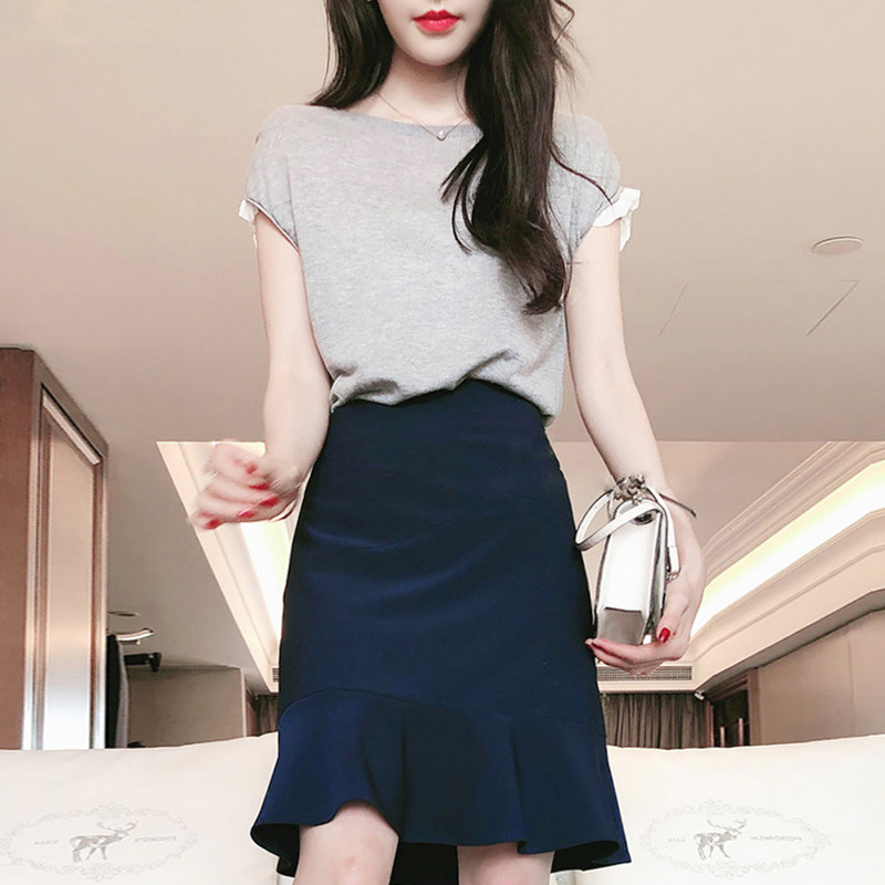 High Cold Royal Sister-Style Pessimistic Funeral Of WOMEN'S Suit Young-Style Skirt Hong Kong Flavor Weep Yafeng Clothes GIRL'S T