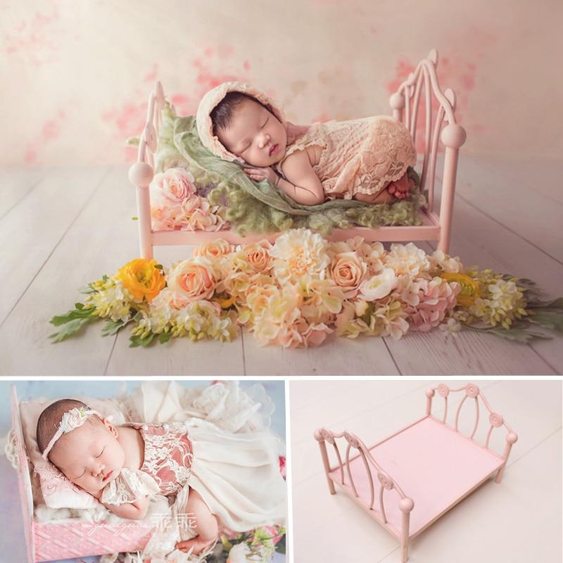 Baby Photography Props Girl Princess Iron Cot Baby Posing Props