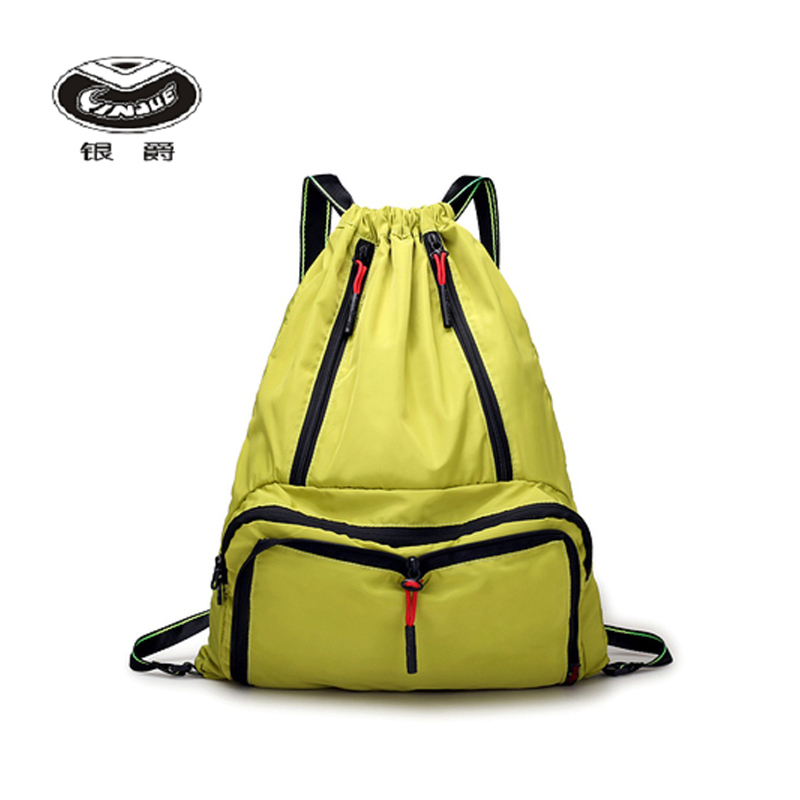Yinjue Drawstring Backpack Lightweight Swimming Bag Travel Waterproof Large Sports & Leisure Portable Foldable Lady Casual Bag