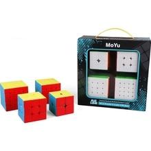 Moyu Cubes Gift Box 4 In 1 2X2X2 3X3X3 4X4X4 5X5X5 Magische Kubus Gift Box Meilong 3x3x3 Rubiks kubus Speed Cube Puzzel professionele magische kubus Educatief Speelgoed MoYu cubes Magic cube toys