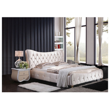 Спальная мебель для хранения мягкой мебели из искусственной кожи, двухспальная кровать