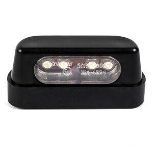 Image 3 - 12V Universal Black LED Motorcycle Tail Brake Rear License Plate Light For Honda/Kawasaki/Yamaha/Suzuki