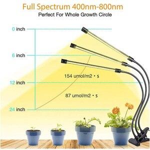 Image 2 - Timer USB 3/4 testa LED Coltiva La Luce Phyto lampada indoor Grow tenda growbox Cultivo giallo Clip di luce del sole Pianta Spettro Completo veg lampada