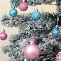 50pcs 30mm Christmas Tree Decorative Ball Christmas Toy Hanging Ball Ornament Decoration for Christmas Decorations for Home Gift