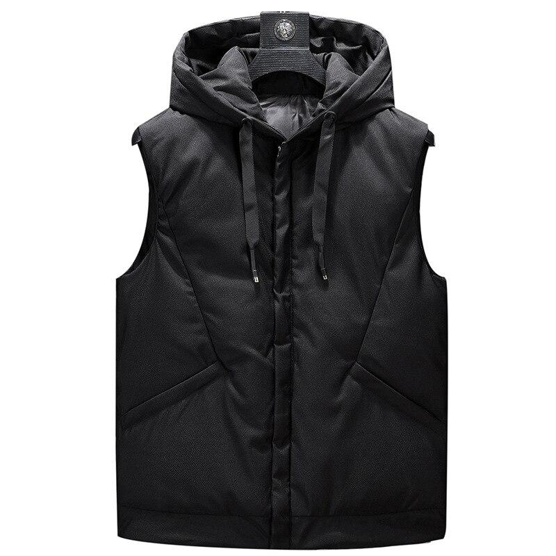 Зимняя мужская плюс размер 5xl 6xl парка жилет Толстовка мужской жилет без рукава Куртка уличная Толстая парка куртка жилет,