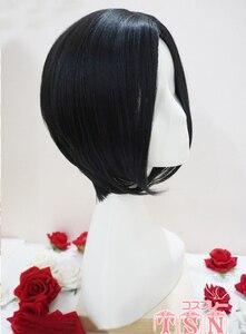 Image 4 - Peluca Cosplay Anime nana oosaki nana cosplay peluca negra corta recta corte Central peinados resistente al calor pelucas de pelo sintético + gorra de peluca