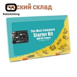 Robotlinking EL-KIT-003 UNO/мега проект супер стартер электронный DIY комплект с учебником для Arduino