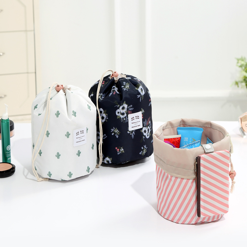 New Oxford Cloth Women Travel Cosmetic Bag Flower Female Drawstring Portable Home Organizer Case Makeup Bag Beautician LMJZ in Cosmetic Bags Cases from Luggage Bags