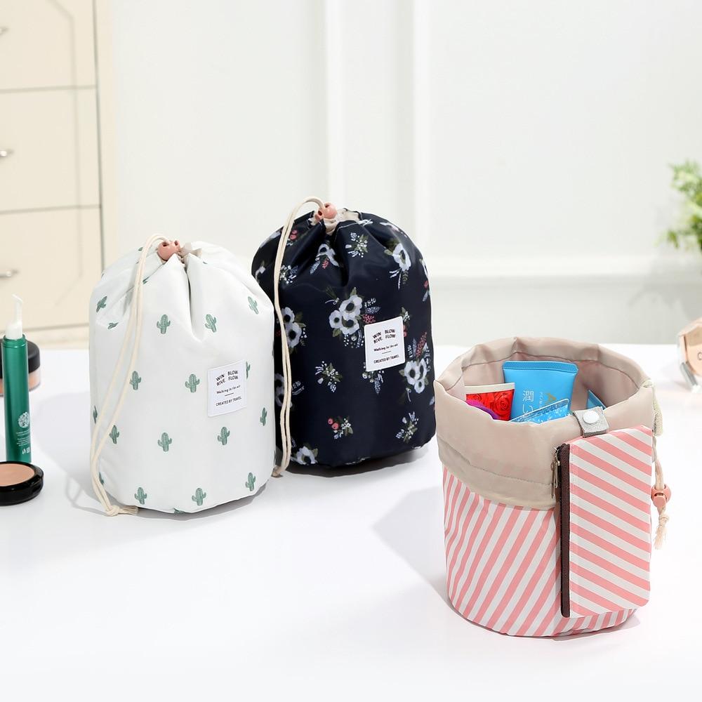 New Oxford Cloth Women Travel Cosmetic Bag Flower Female Drawstring Portable Home Organizer Case Makeup Bag Beautician LMJZ