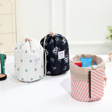 New Oxford Cloth Women Travel Cosmetic Bag Flower Female Drawstring Portable Home Organizer Case Makeup Beautician LMJZ