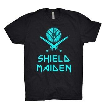 Shield Maiden T Shirt Vikings Odin Thor Valhalla Nordic Ragnar Lodbrok Lagertha 1