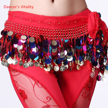 Belly dance belt costumes sequins tassel belly dance hip scarf for women belly dancing belts indain colors belt cheap Dancer s Vitality CN(Origin) DV-YL001 Acrylic Bamboo Fiber Cotton Stretch Spandex Polyester butterfly paragraph Lace up adjustable