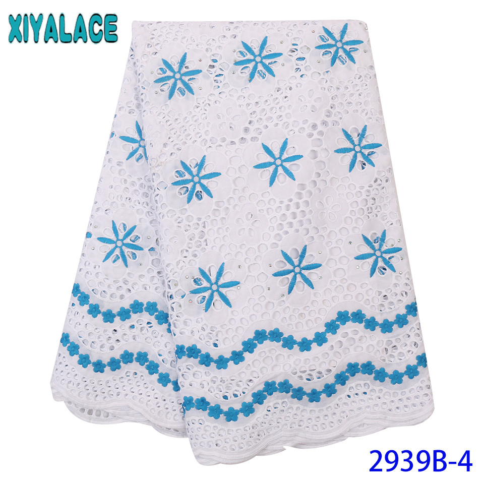 Nigeria Swiss Voile Lace,2019 Embroidered Lace Fabric,African Lace Fabric High Quality Hollow Out Design For Dresses KS2939B-4
