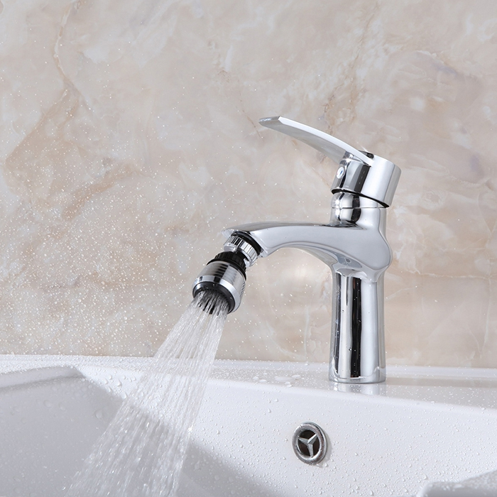 360 Degree Swivel Tap Aerator Head Sink Mixer Rotatable Faucet Nozzle Dual Spray Extender Kitchen Tool