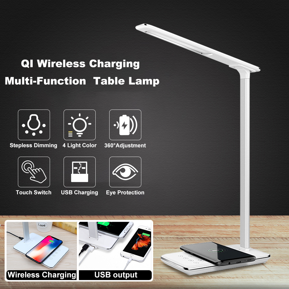 Portable Table Desk Multi-Functional LED Light Dimmable Touch Control Camping