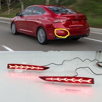 JanDeNing 2x LED Rear Bumper Reflector Brake Lights Night Driving Lights DRL For Hyundai Accent 2017 2019