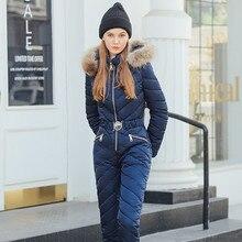 Женский лыжный костюм, зимняя плюшевая куртка с капюшоном, с воротником, карманами, на молнии, хлопковый комбинезон, куртка для горного катания на лыжах+ штаны для сноуборда, женский