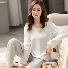 Зимняя пижама из 100% хлопка для женщин pj с длинными рукавами