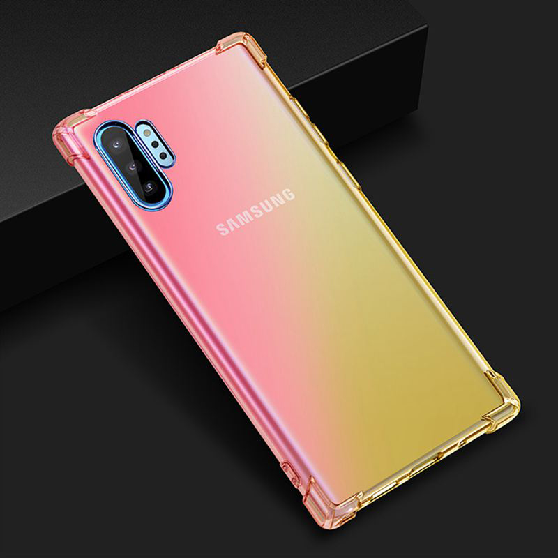 Image 5 - Phone Case For Samsung Note 10 Plus 10 Pro Gradient Cover For Samsung Galaxy Note 10 Pro Note 10 Plus Rainbow Coque Bumper Shell-in Fitted Cases from Cellphones & Telecommunications