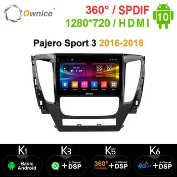 Ownice Car DVD Auto Radio 2Din GPS Navi Stereo for Mitsubishi Pajero Sport 3 2016 2017 2018 Android 10.0 Octa Core 4G DSP SPDIF image