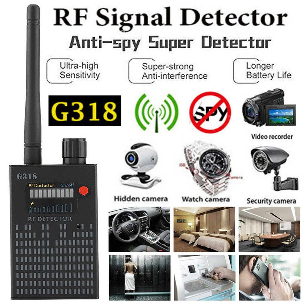 G318 Anti-Spy Amplification Signal Detector RF Spy Bug GPS Tracker Finder Tracer Finder 2G 3G 4G Detector