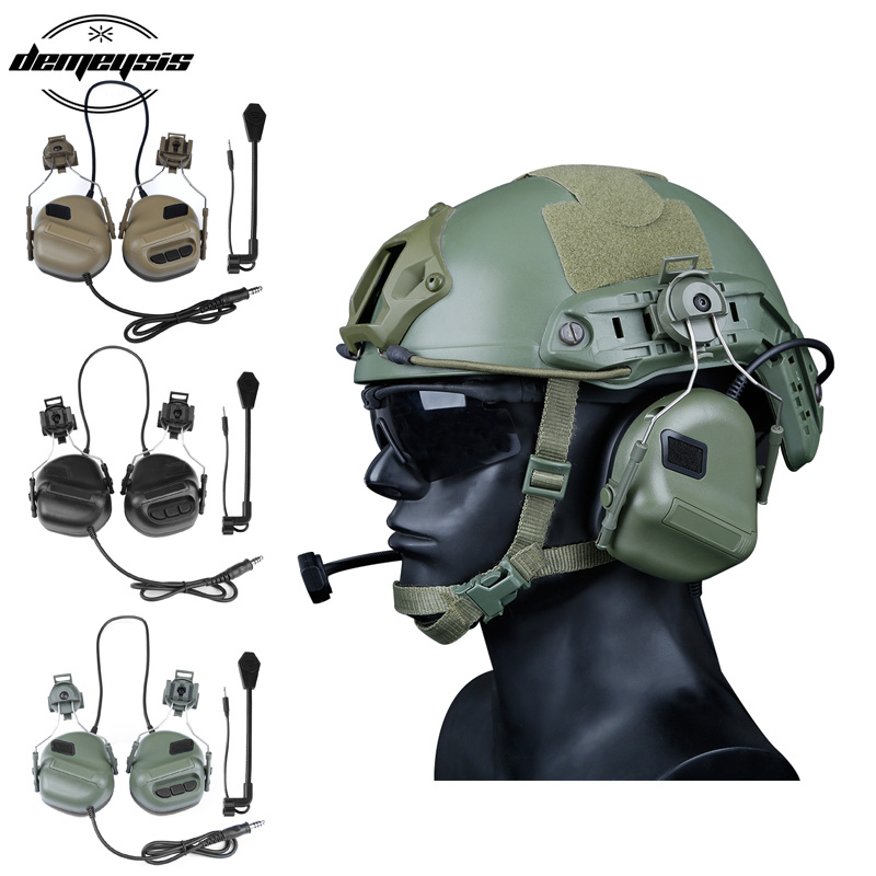 High Quality Army Tactical Hunting Shooting Headsets Military Helmet Airsoft Paintball Headset CS Wargame Headphone