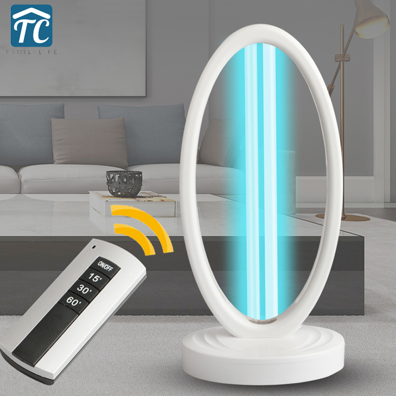 38W UV Light UVC Lamp 220V 110V Household Ozone Quartz Lamps Germicidal Ultraviolet Lamp Bactericidal Portable