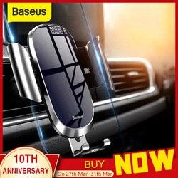 Baseus suporte do telefone do carro para iphone samsung suporte do telefone móvel suporte de metal gravidade ventilação de ar montagem gps telefone celular titular no carro