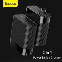 Caricabatterie USB Baseus 2in1 5000mAh Power Bank caricabatterie da viaggio portatile doppio a ricarica rapida 15W 3.0 Mini caricabatterie rapido multifunzione