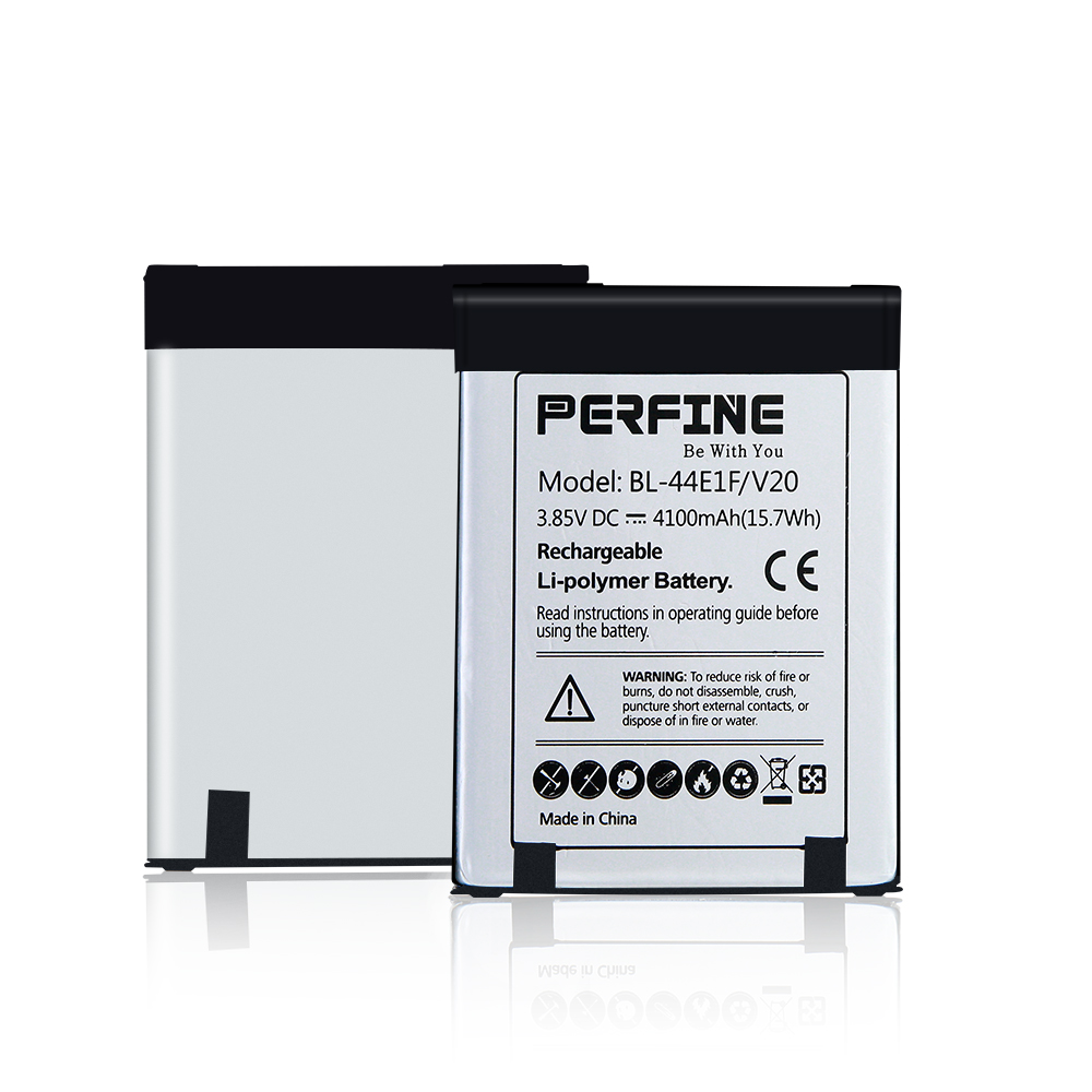 Perfine V20 Battery 4100mAh 2pcs BL-44E1F Batteries  For LG V20 H910 Stylo 3 LS777 Stylus 3 LG-M400Y Removable Spare Battery