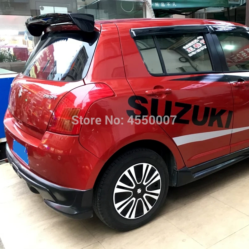 For <font><b>Swift</b></font> Spoiler High Quality ABS Material Rear Wing Spoiler For <font><b>Suzuki</b></font> <font><b>Swift</b></font> Spoiler 2007 <font><b>2008</b></font> 2009 2010 2011 2012 2013 2014 image