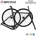 Spcycle Aero комплект из карбоновой гравийной рамы и колес 700 * 40C  Велокросс дисковый тормоз  рама для велосипеда  размер 49/52/54/56/59 см