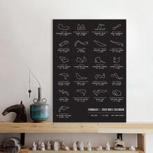2021 F1 Formule Grand Prix Race Kalender Circuit Map Track Art Poster Ras Canvas Schilderij Prints Picture Home Wall Art decor