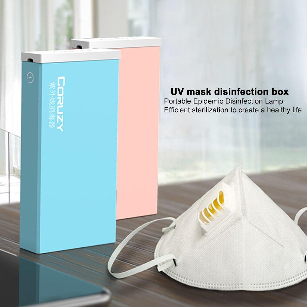 5V Led Light Phone Mask UV Sterilizer Box Jewelry Cleaner USB Uvc Sanitizer стерилизатор Disinfection Cabinet Esterilizador