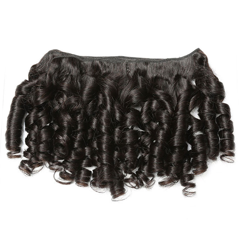 bouncy  curly human hair bundles 20