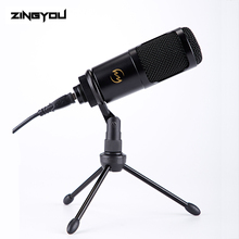 ZINGYOU USB Microphone Podcast Condenser Microphone High Fidelity Professional Microphone With Tripod Stand For Computer Youtube