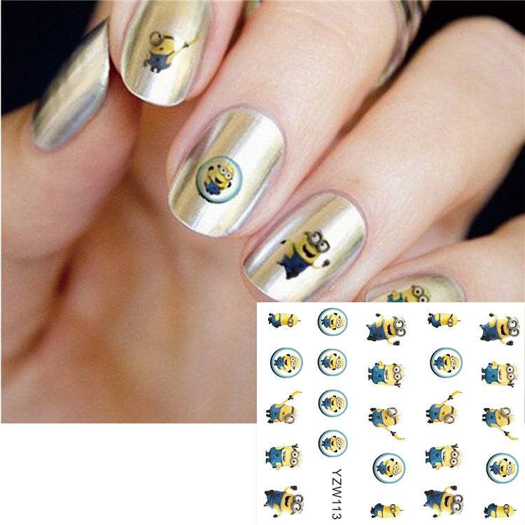 Cartoon Animation Watermark Nail Sticker Classic Nostalgic Nail Sticker Flower Jewelry Environmentally Friendly Children Handmad