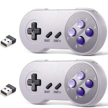 2pcs/Lot 2.4 GHz Wireless USB Controller Compatible with Super Famicom Games USB Classic Controller Joypad Joystick for Windows