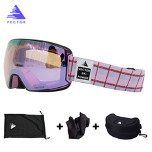 Ski-Goggles Snowmobile Lens Skiing Anti-Fog Women Small UV400 OTG Outdoor Adult Purple